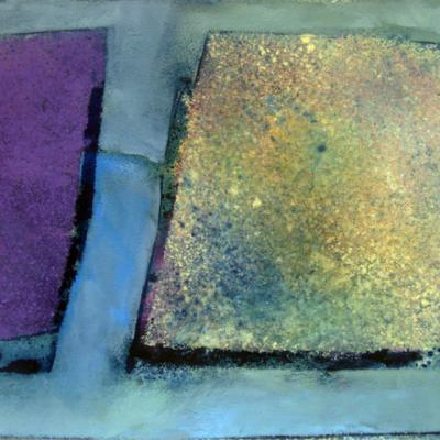 STUDY FOR QUARRY SERIES: TWO SETTS WITH COBALT VIOLET
