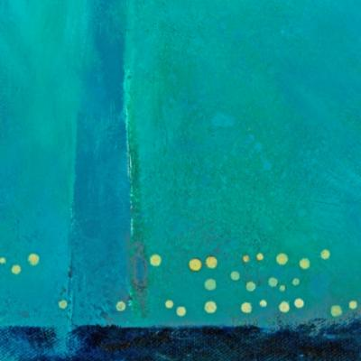 COMPOSITION WITH PRUSSIAN BLUE HORIZONTAL