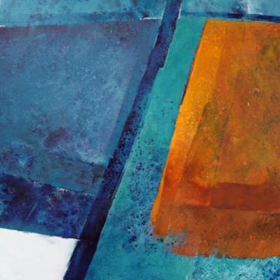 Pentr Ty Gwyn - Oxide Orange, Oil on canvas, 2010