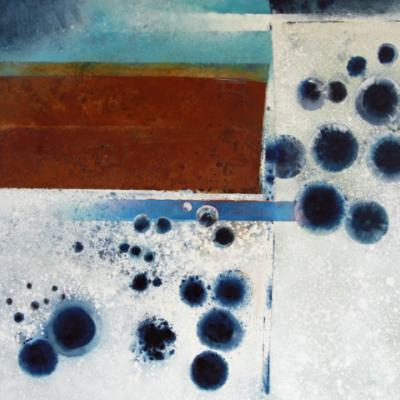 Minions Moor II - Oxide Red and Phthalo Blue, Oil on canvas, 2010